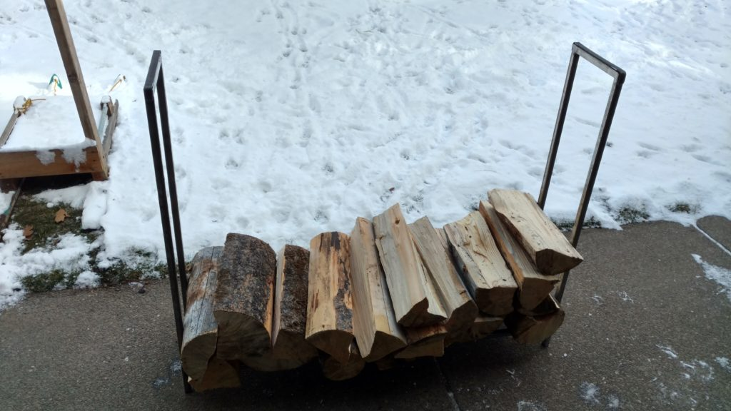 Custom firewood rack built to customer specifications.